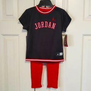 *NWT* Jordan dress and leggings set - 24M